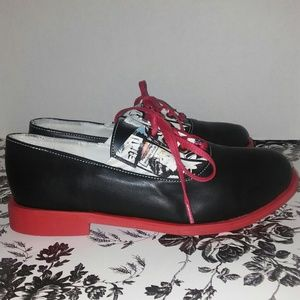 streetfly Shoes - Streetfly red and black Oxfords Size 38